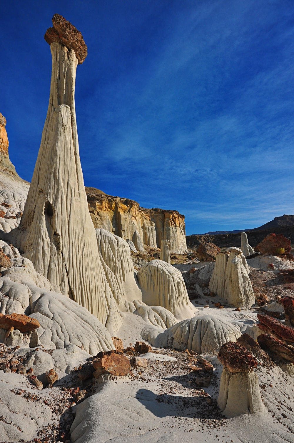 White hoodoos near Wahweap, Grand Staircase-Escalante National Monument.