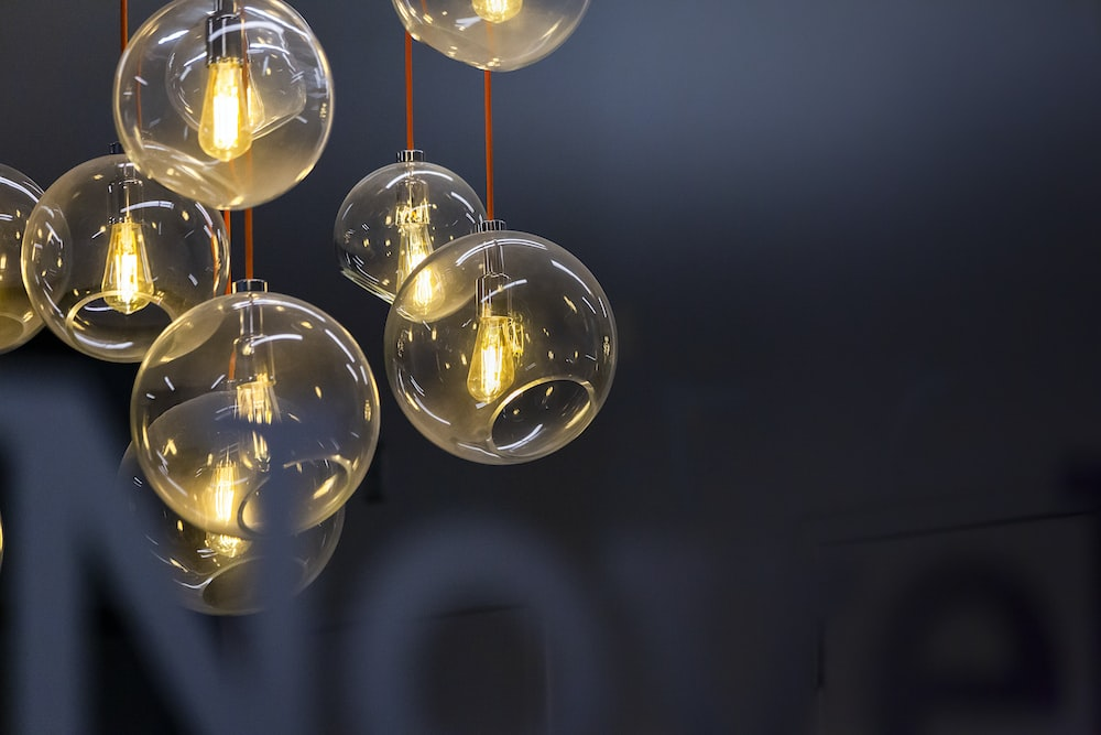 clear glass pendant lamps