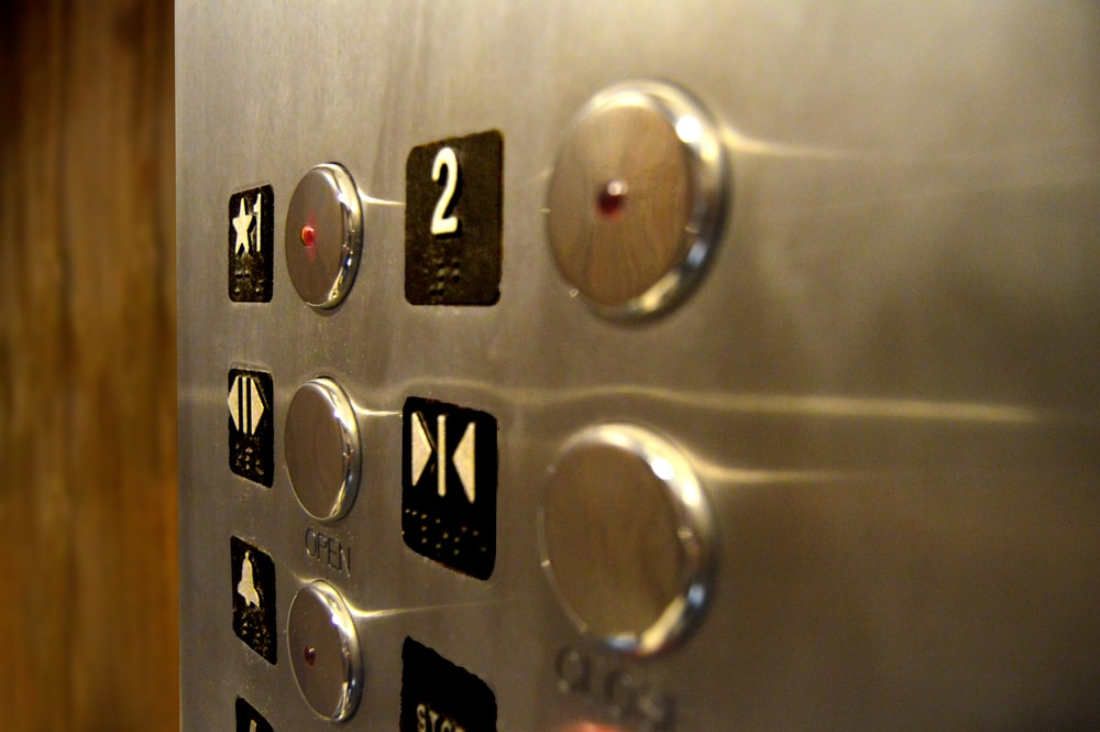 gray elevator knobs