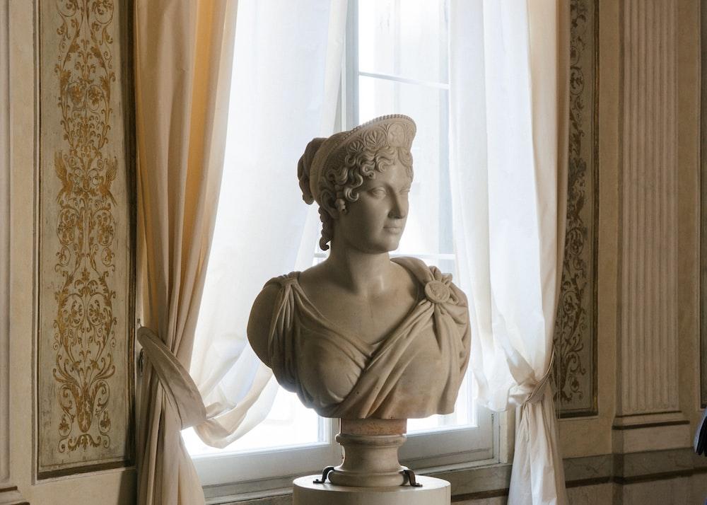 ceramic head bust table decors
