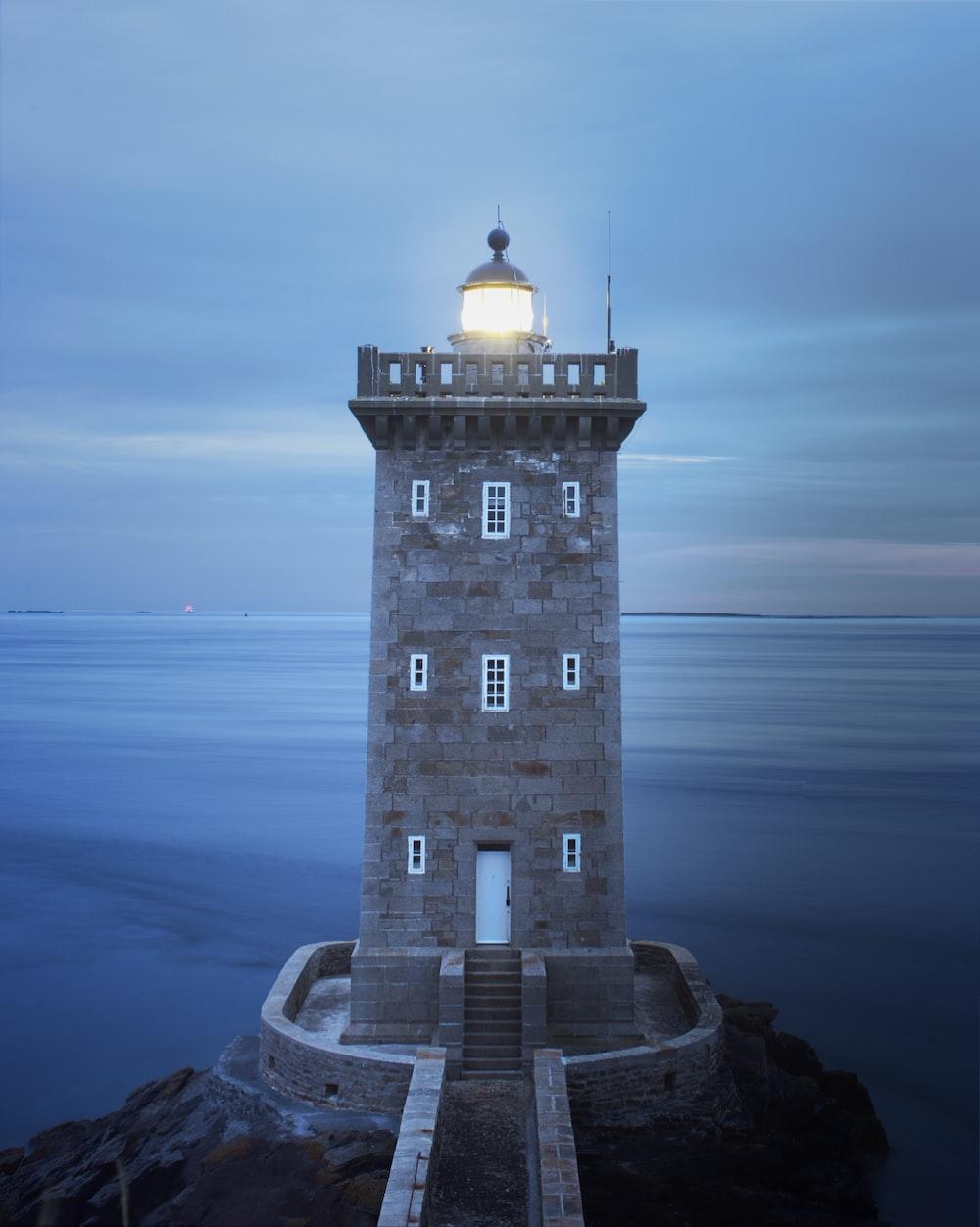 gray concrete lighthouse