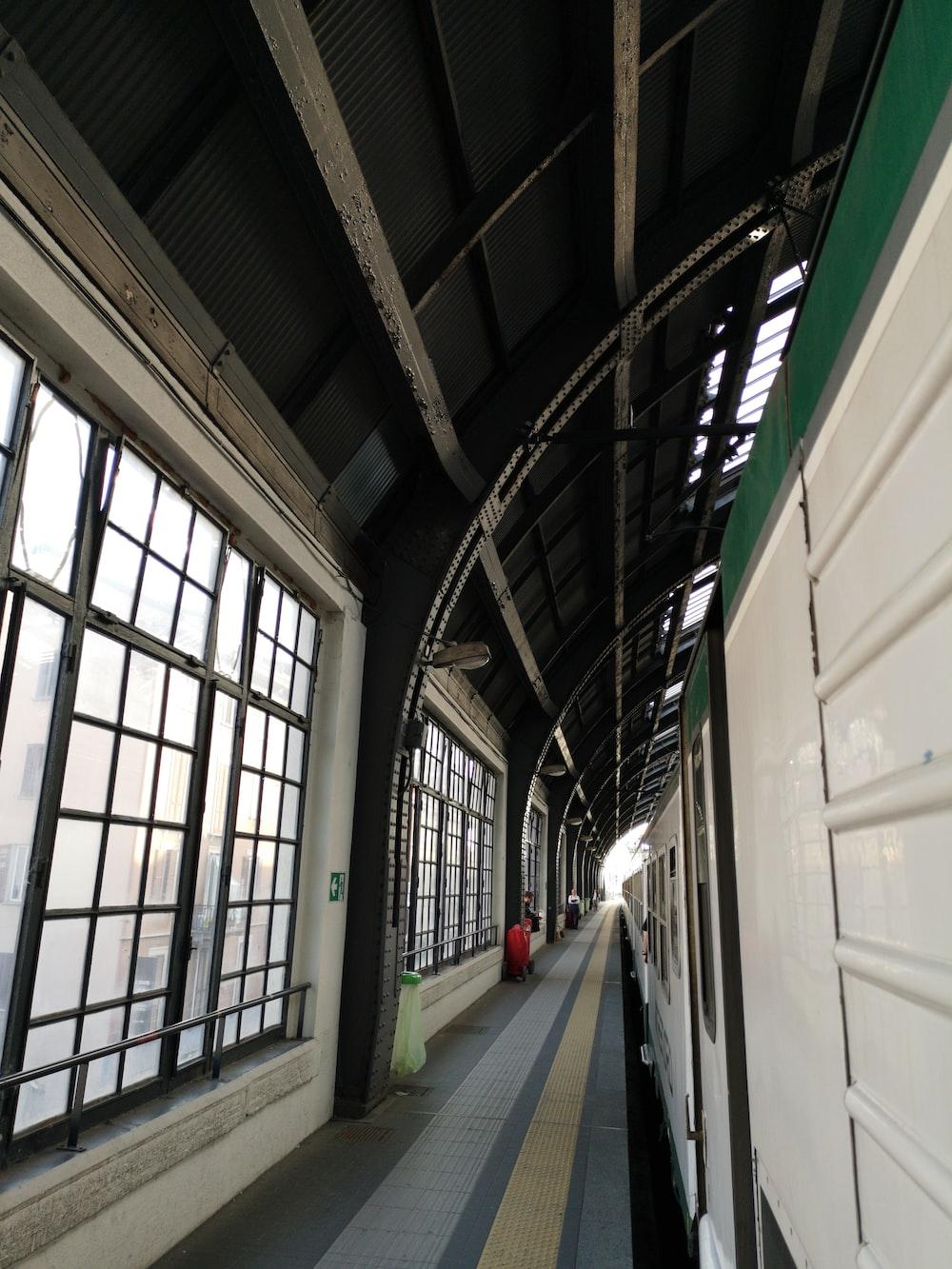 empty pathway near train