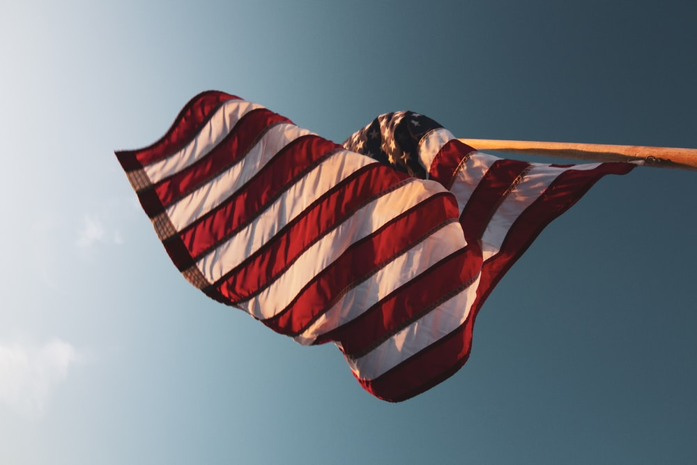 USA flag inpole