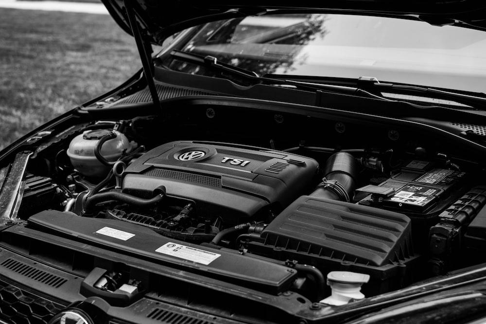 Volkswagen engine in car