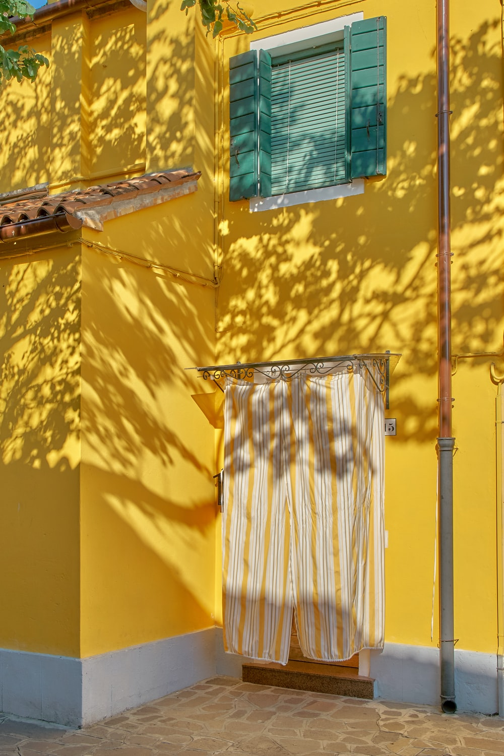 yellow painted concreted building