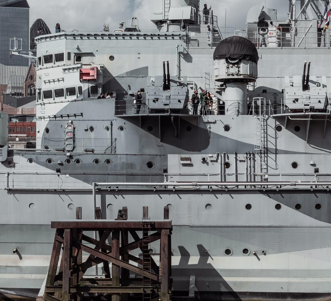 By zooming in this shot, I wanted to capture the maze that is a warship.
