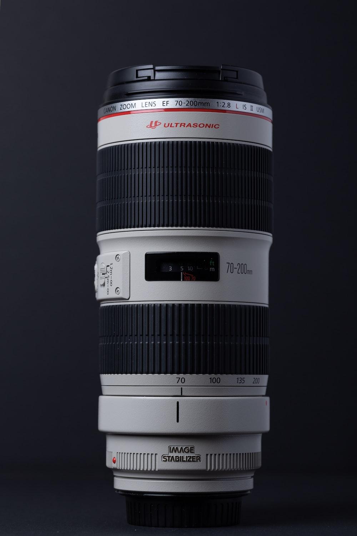 black and white Ultrasonic DSLR camera zoom lens