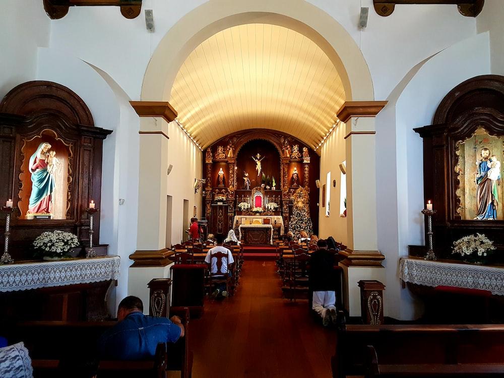 people inside church