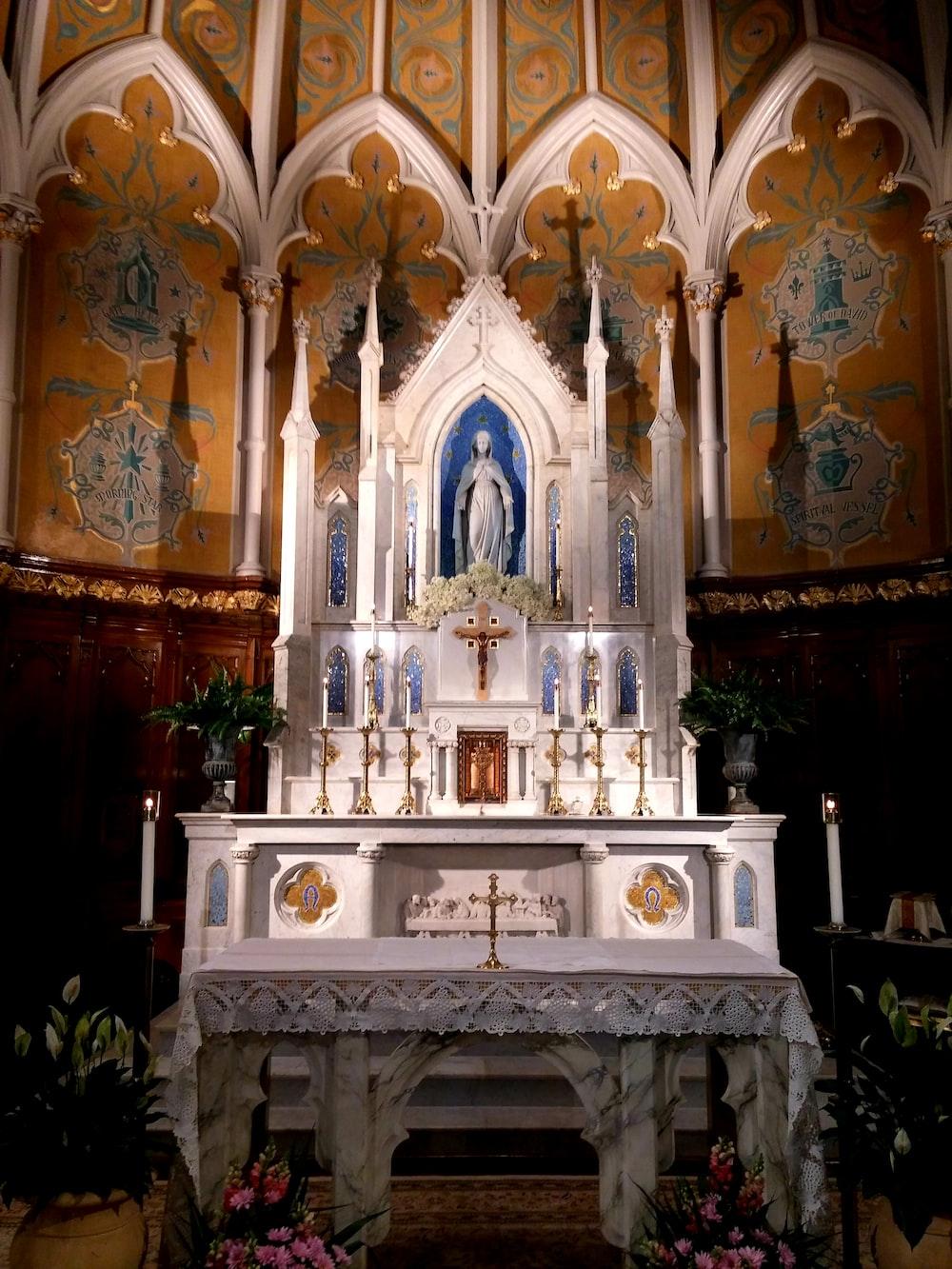 inside church viewing altar