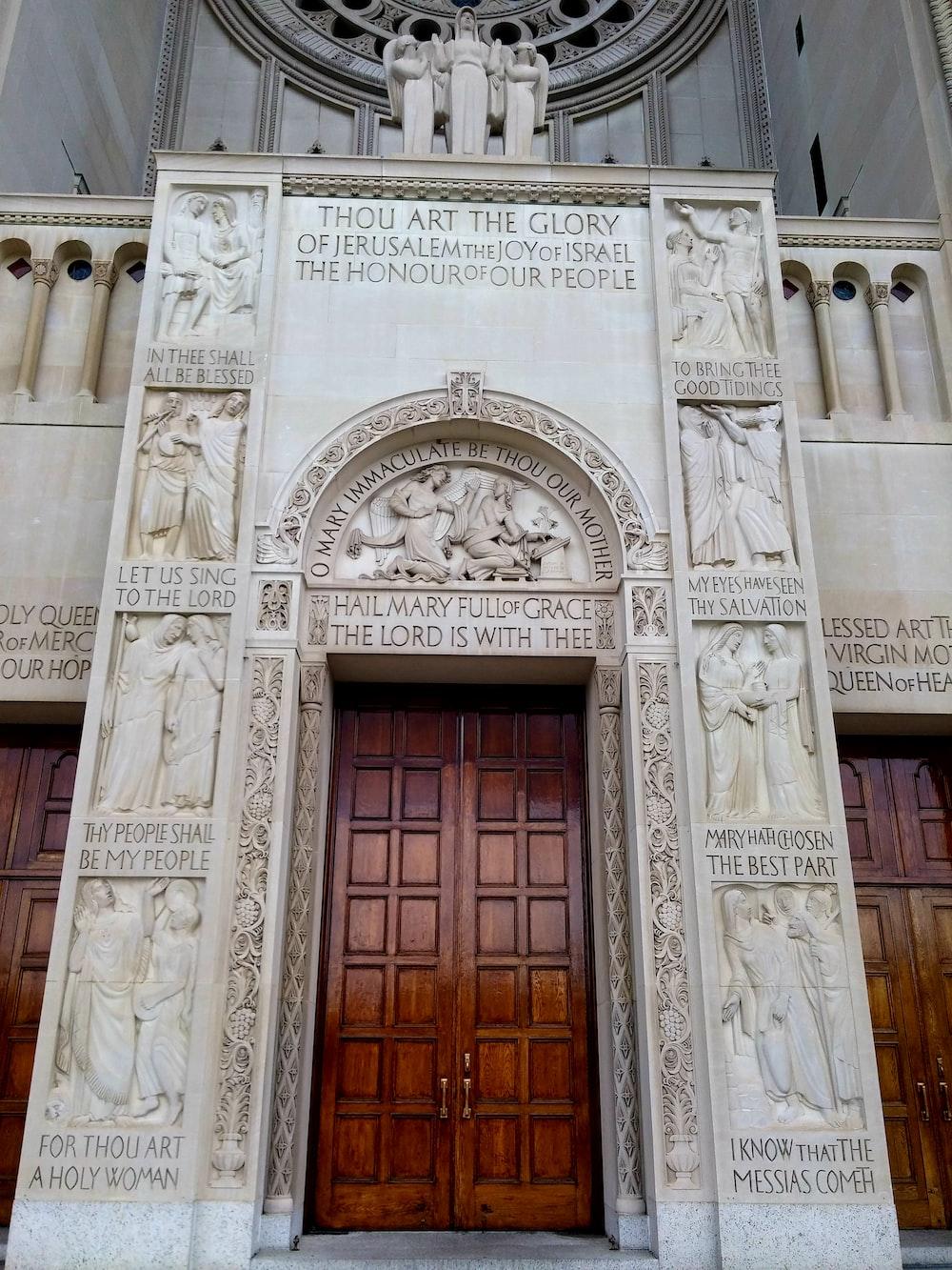 white museum showing closed door