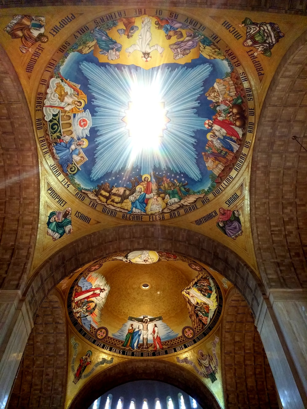 multicolored painted building dome ceilings