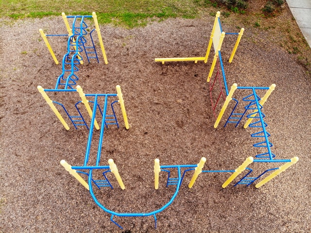 blue and yellow playground by @wildfirewilly, unsplash