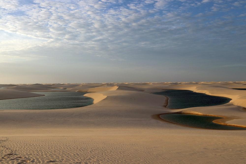 desert under gray clouds during daytime