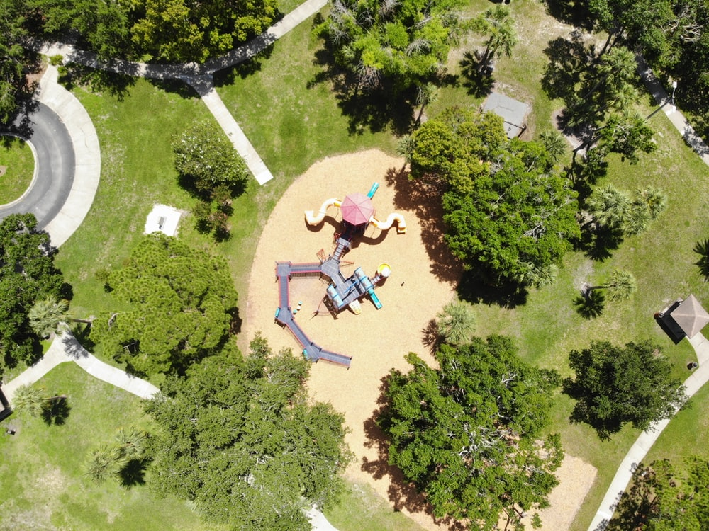 aerial view of children's playground