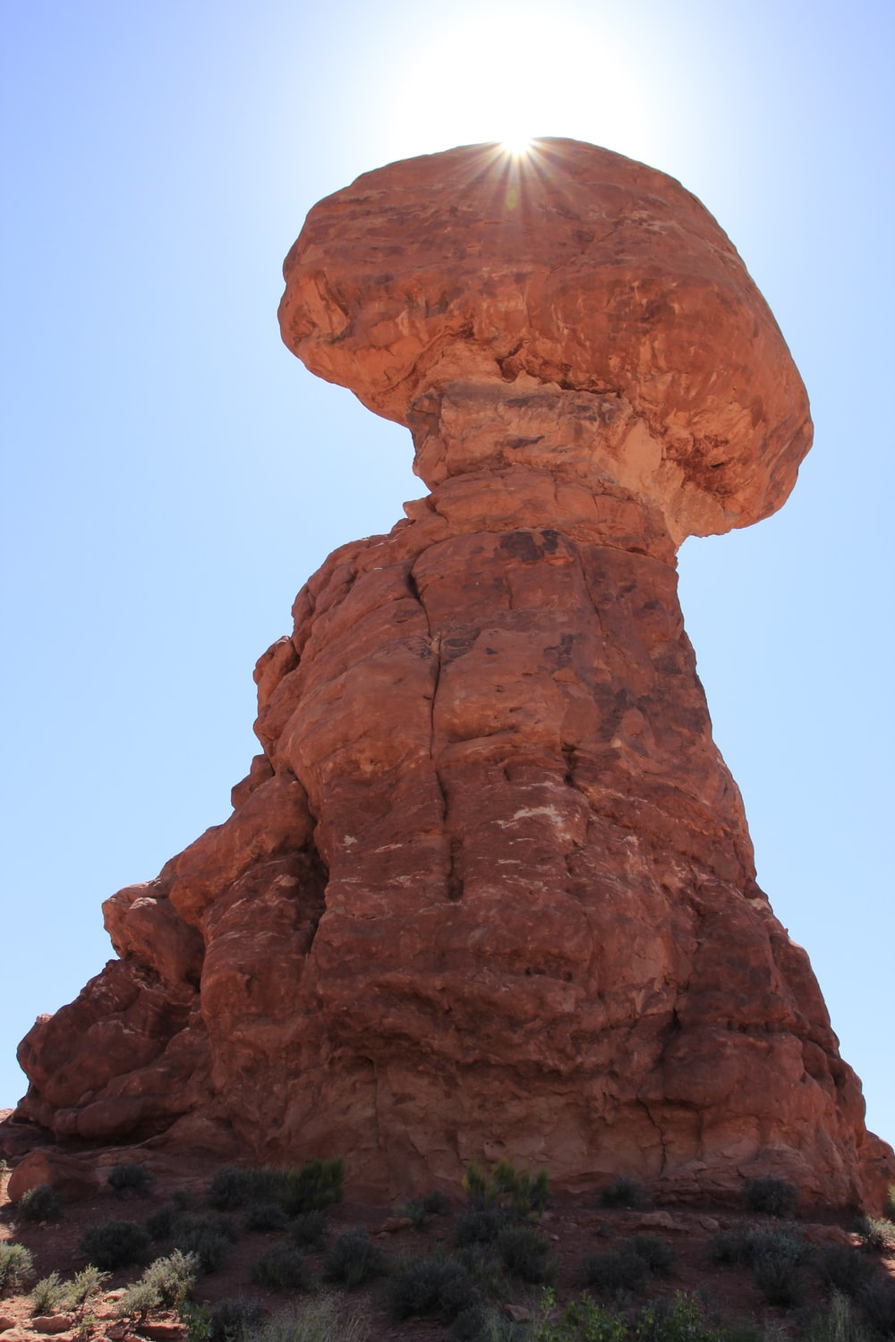 brown stone formation during daytime