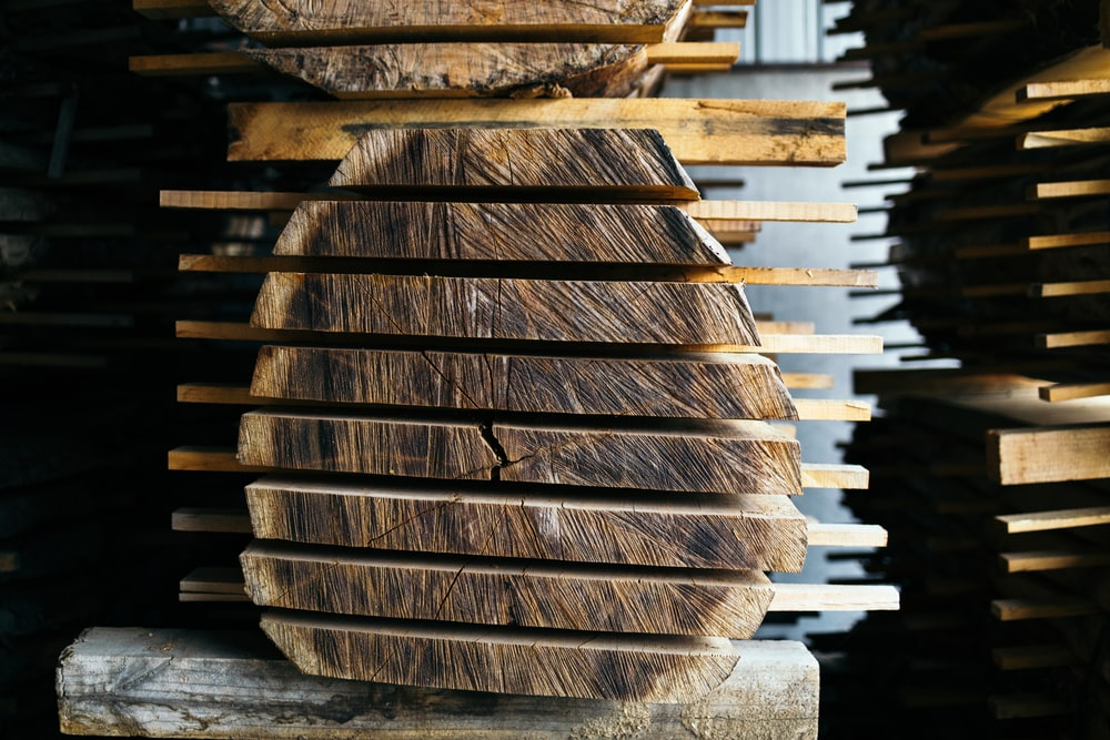 pile of wood slices