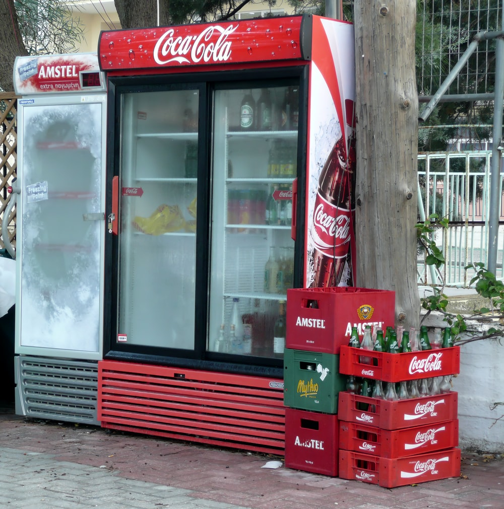 Coca-Cola and Amstel coolers