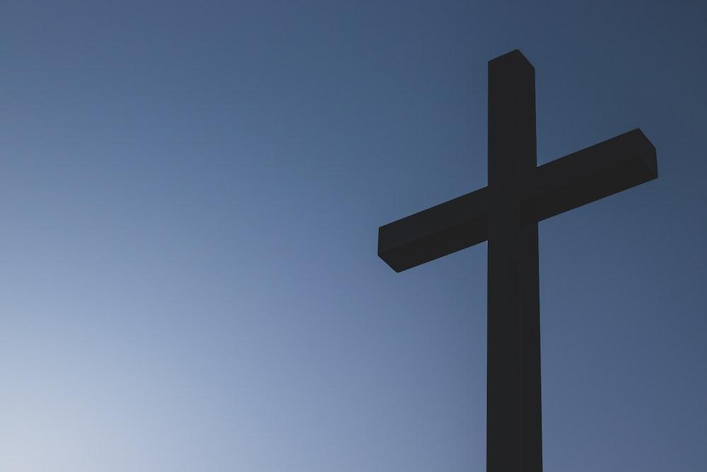 black cross statue