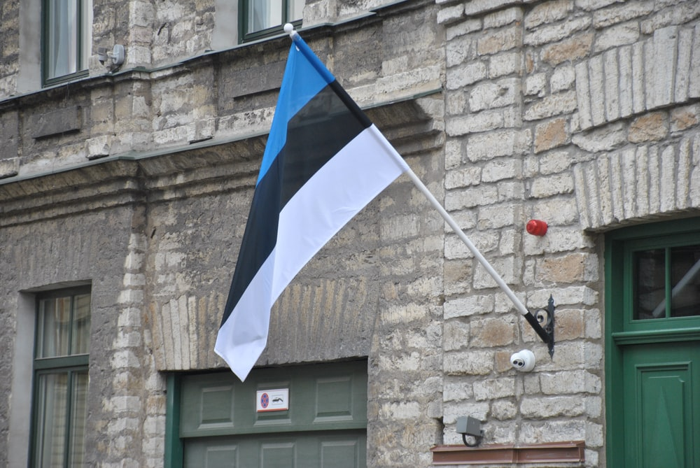 flag placed on wall