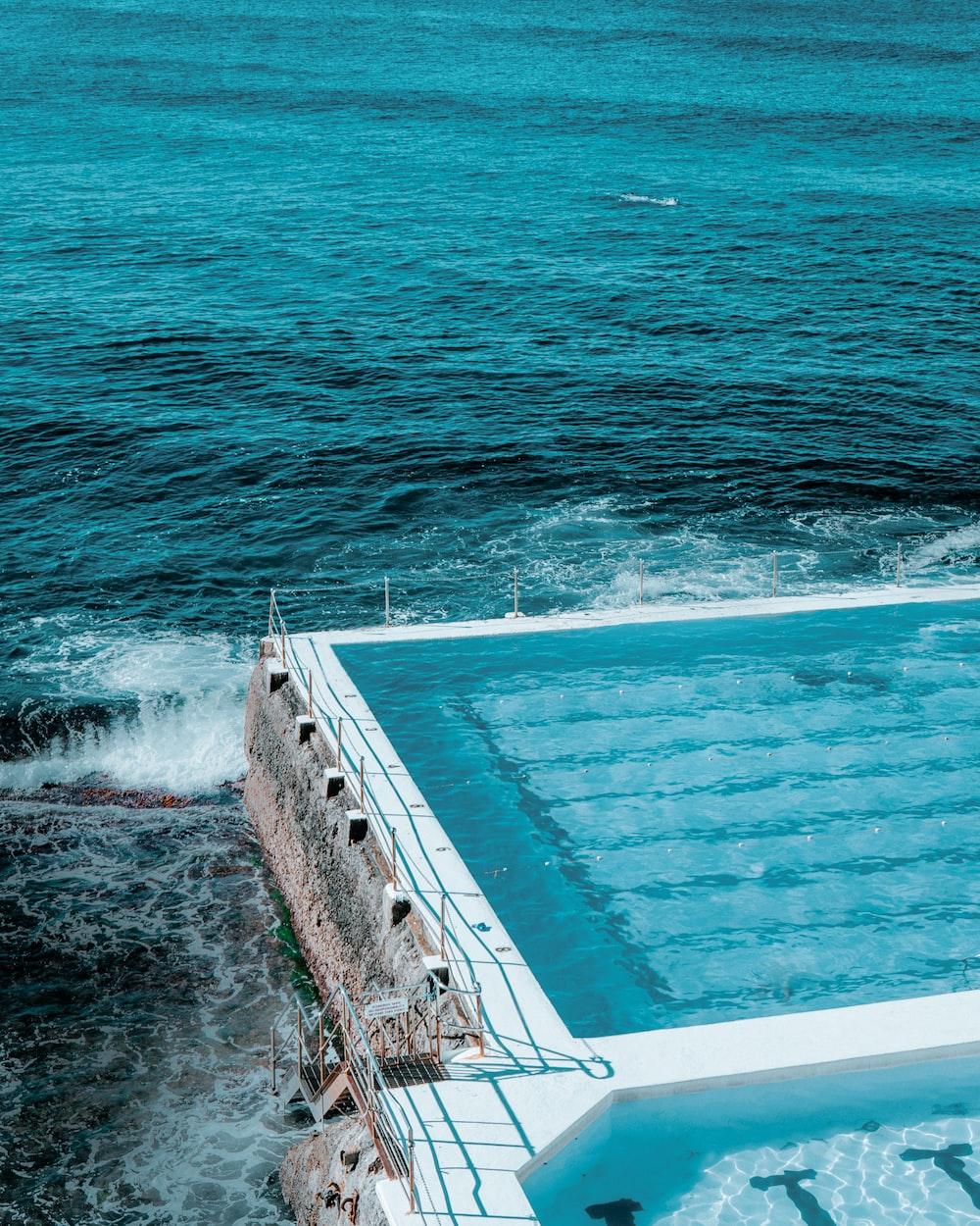 pool near sea