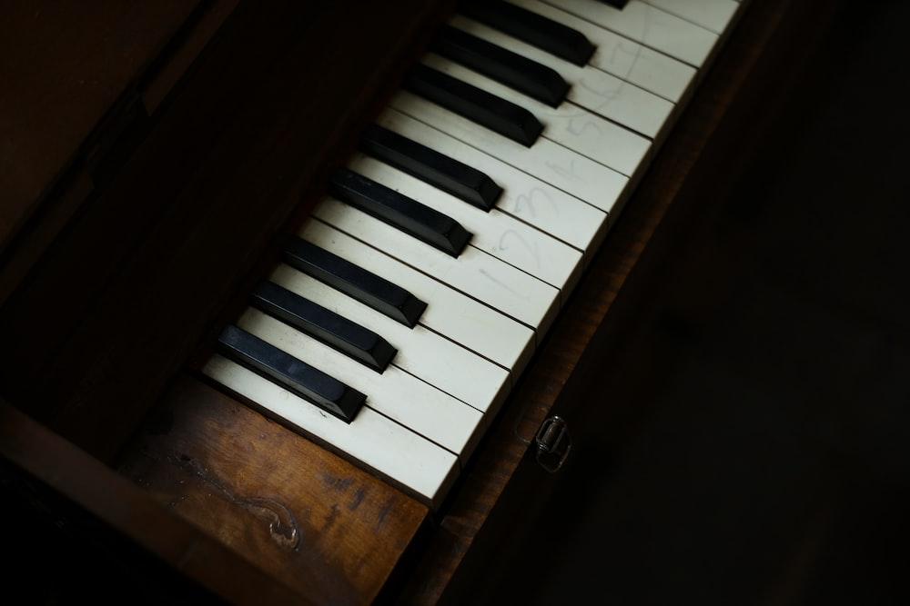 black and brown organ