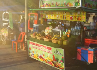 fruit stand beside road