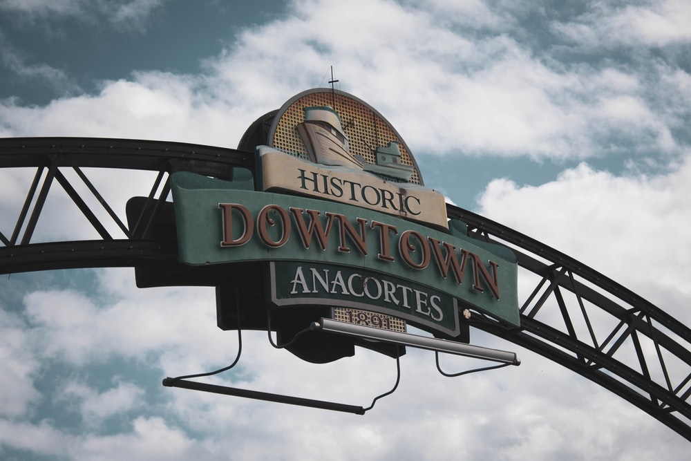 Historic Downtown Anacortes signage