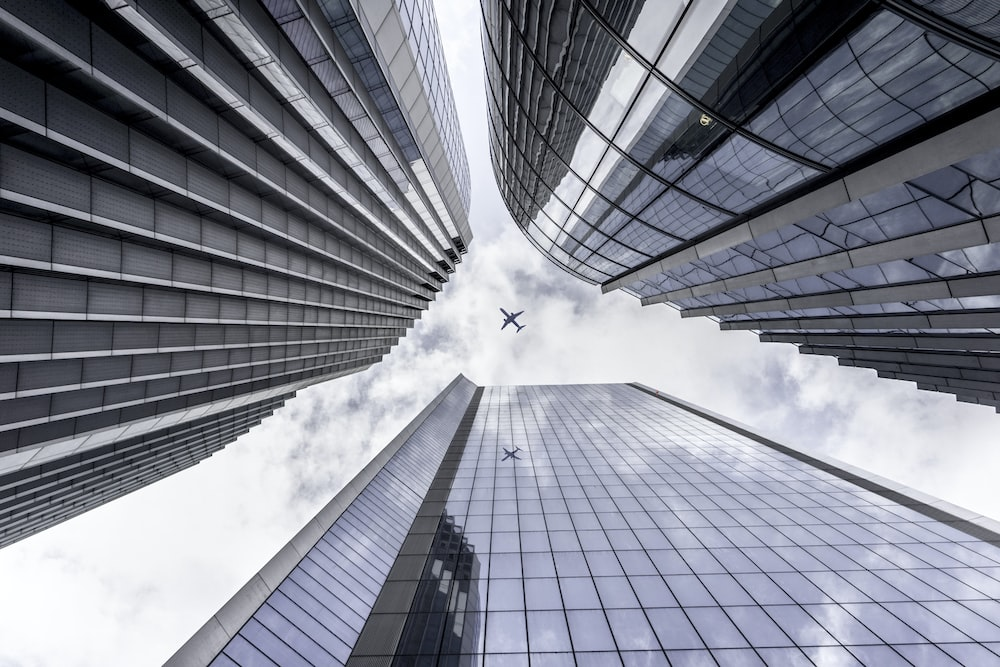 low angle view photography of high rise buildings
