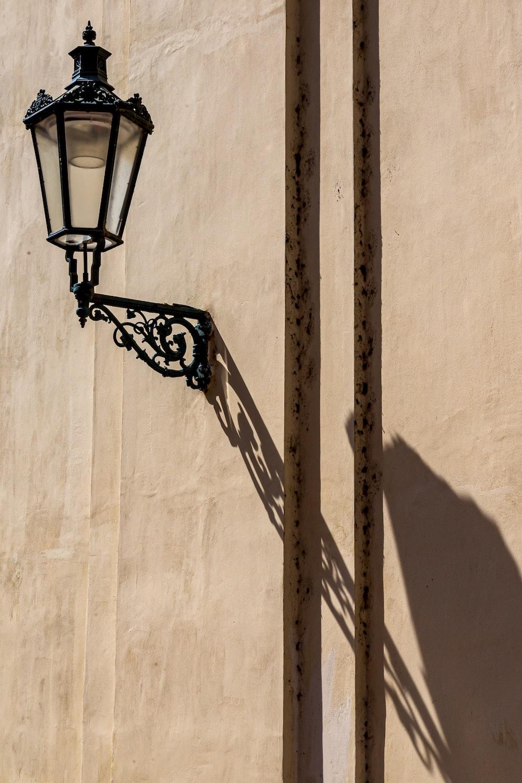 lantern lamp on the wall