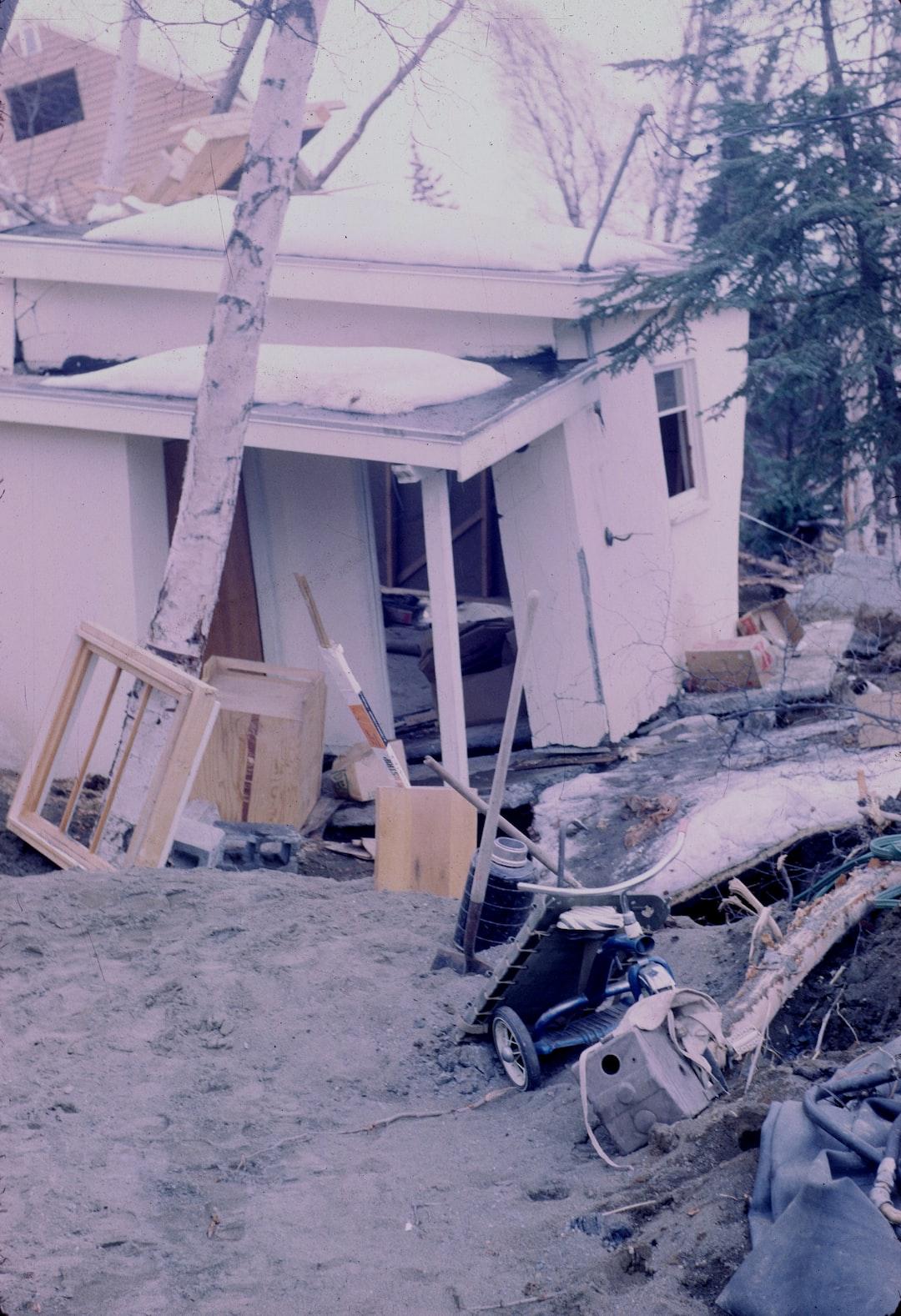 Alaska 1964 Good Friday earthquake damage.