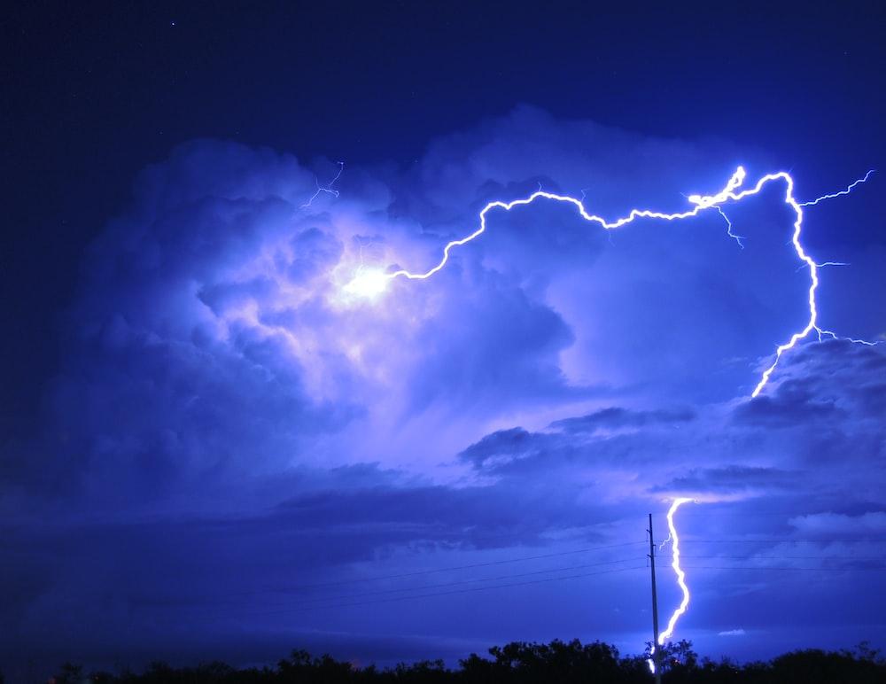 lightning at night