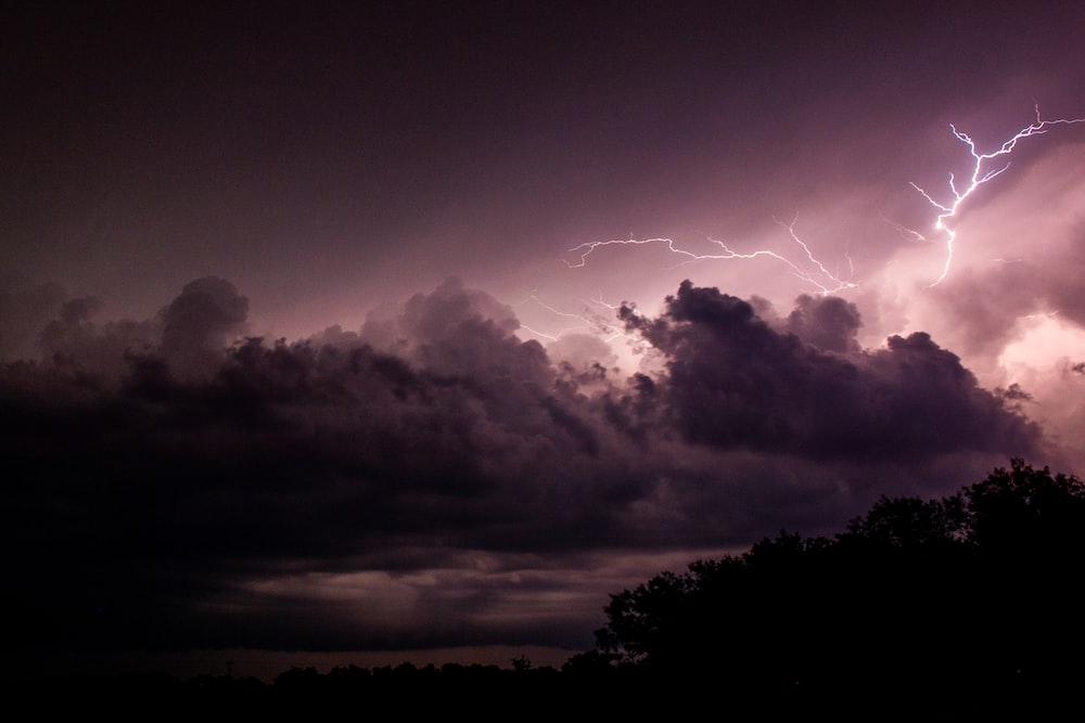 lightning hitting clouds