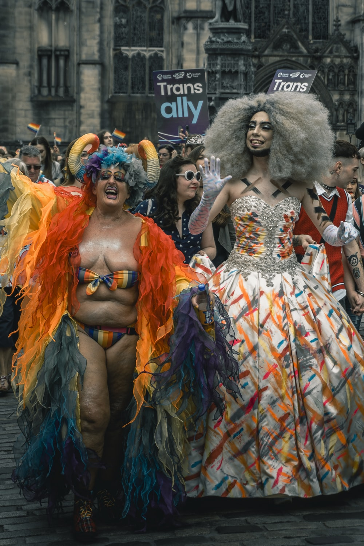 drag queens at a Pride parade