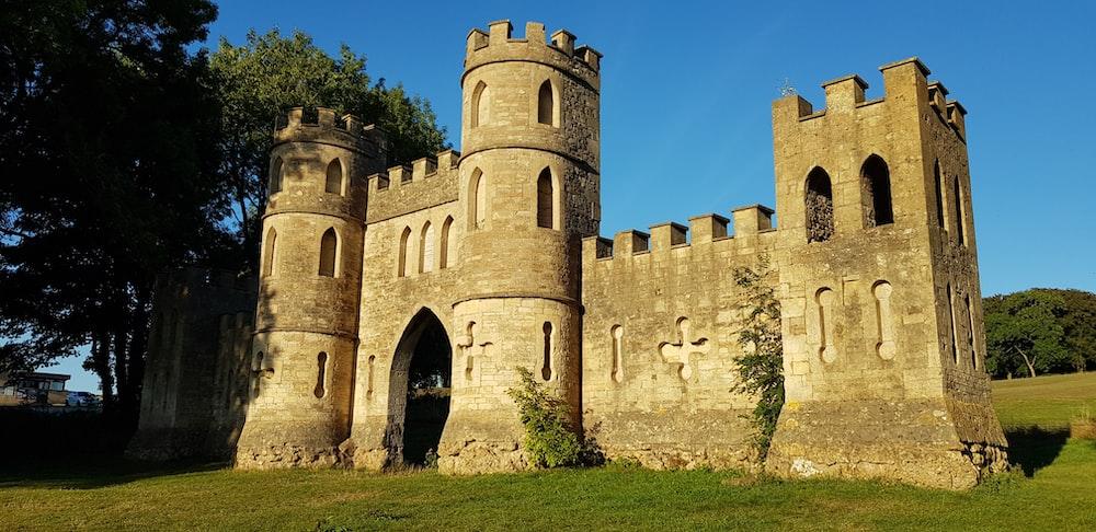gray stone castle