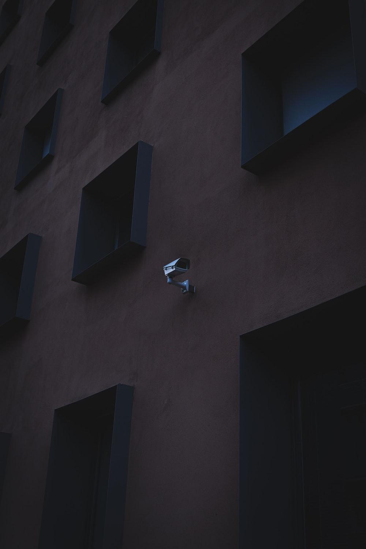 black outdoor CCTV camera