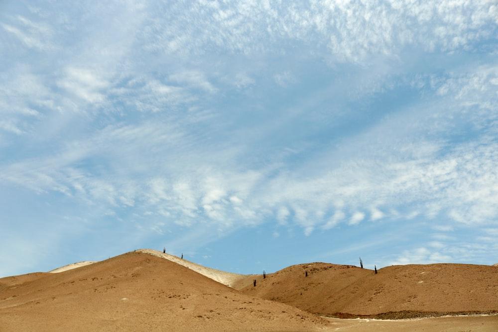 landscape photography of desert mountain