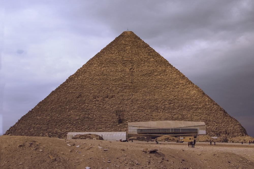 brown concrete pyramid