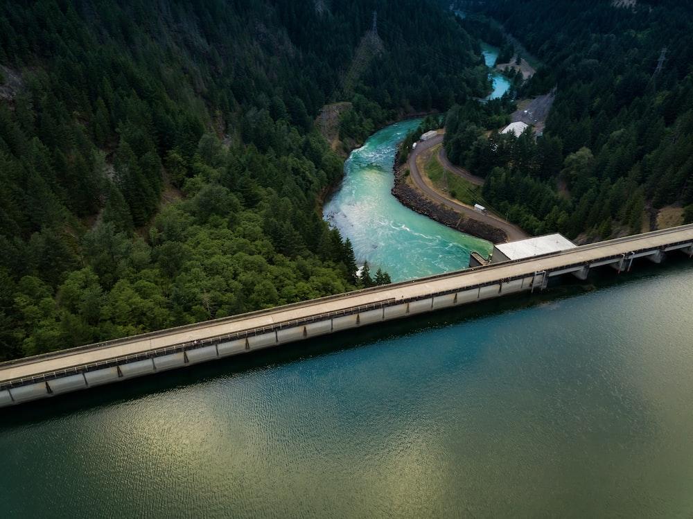 body of water near bridge