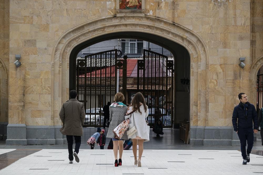 people near gate