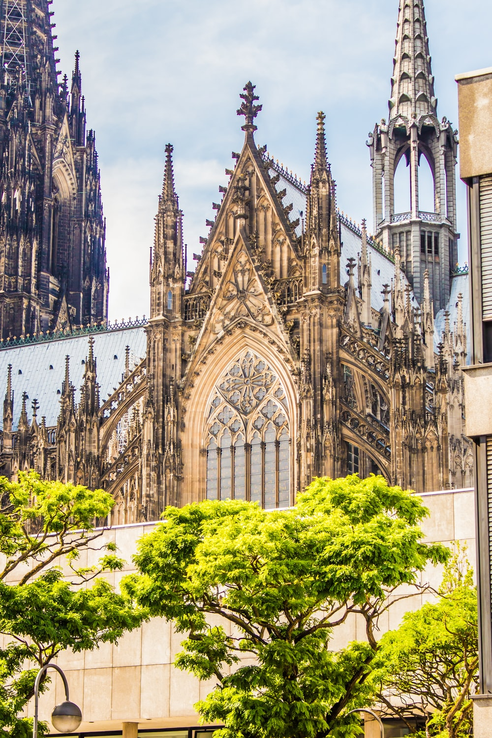 architectural photography of gothic church