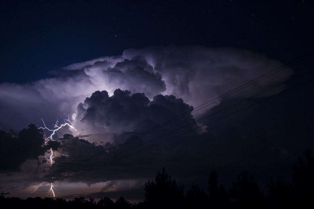 Single cell thunderstorm cloud