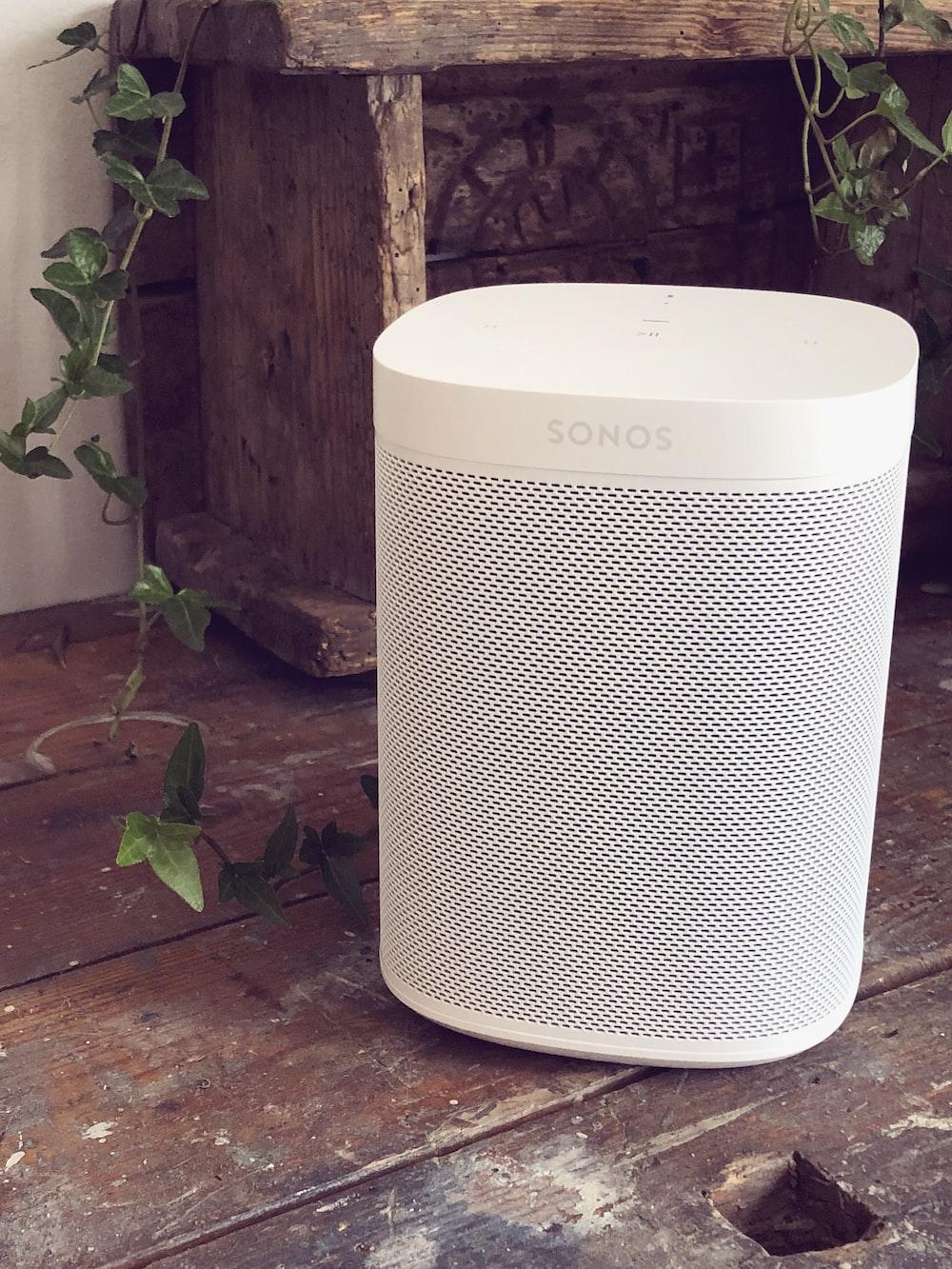 white Sonos portable speaker