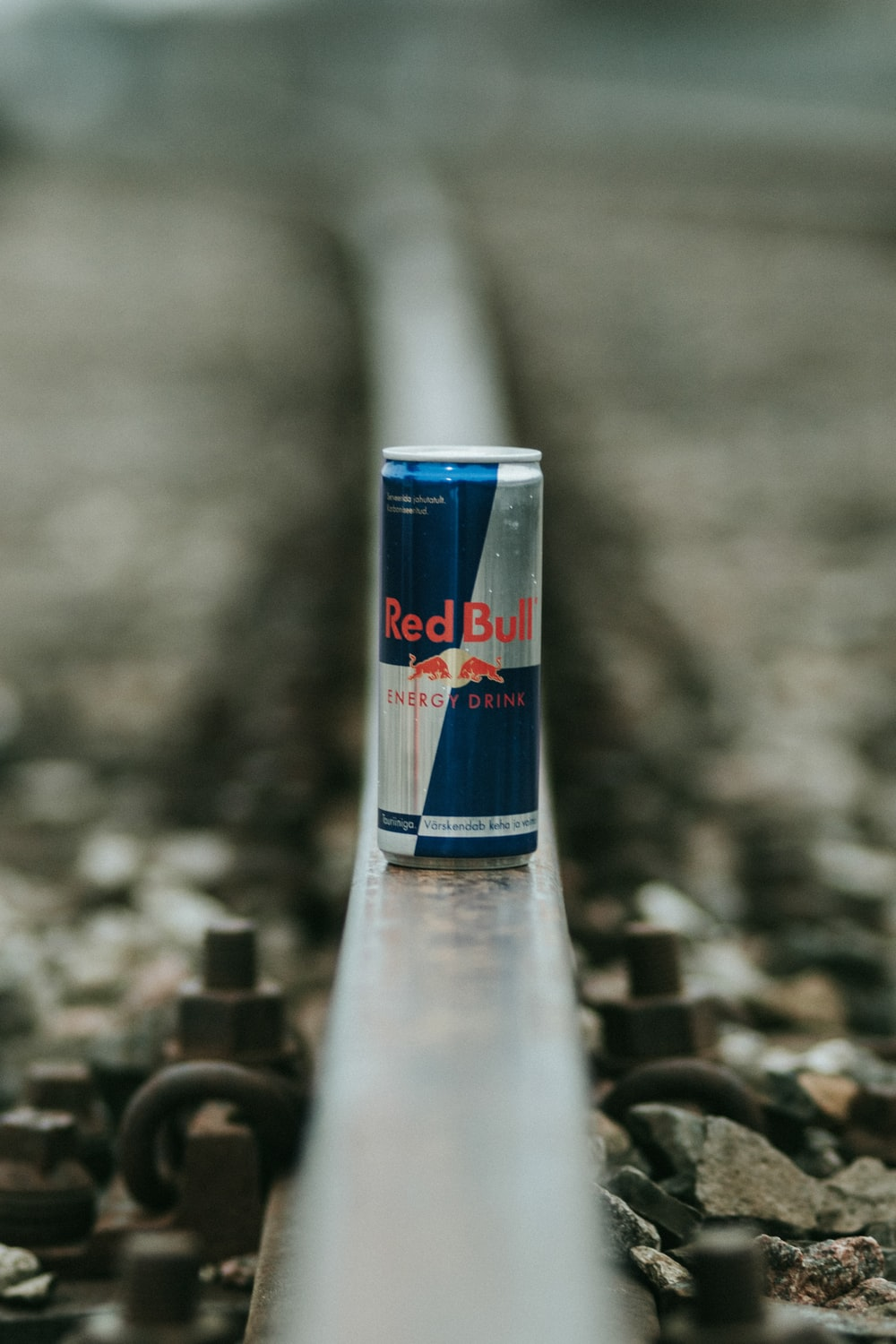 blue and grey Red Bull energy drink can
