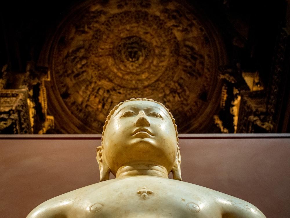 low-angle photography of Gautama Buddha statue
