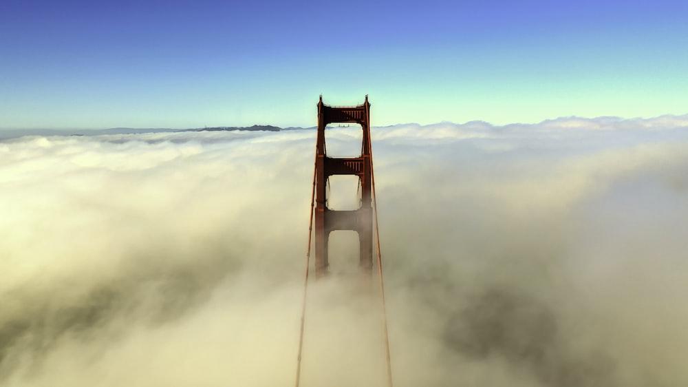 clouds forming at Golden Gate Bridge