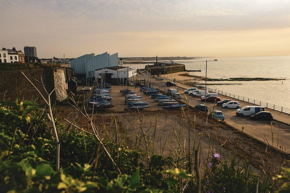 cars parked near dock