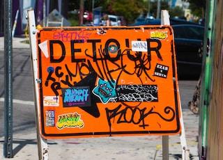 detour signboard