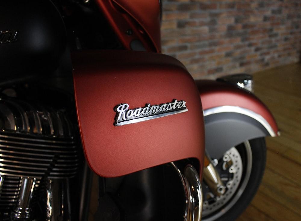 red Roadmaster motorcycle