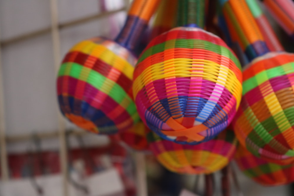 selective focus photography of multicolored hand tool