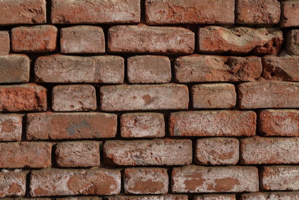 red concrete brick wall
